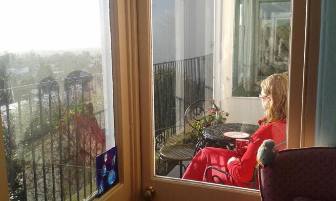 Amida Mandala breakfast on the balcony